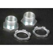 """Wiremold 5780 Special Nipple, Galvanized W/ 1/2"""" Locknut, 1/2""""L - Pkg Qty 10"""