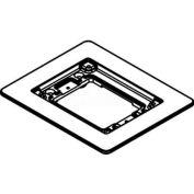 Wiremold 818tcal Floor Box 1-Gang Combination Carpet & Tile Flange, Aluminum - Pkg Qty 5