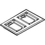 Wiremold 827c Floor Box 2-Gang Carpet Flange, Brass - Pkg Qty 5