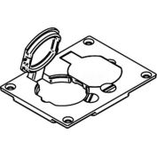 Wiremold 828pr-Brn Floor Box Duplex Receptacle Cover, Brown, Flip Lids - Pkg Qty 10