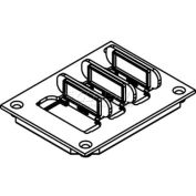 Wiremold 829pfl-Blk Floor Box Non-Metallic Flip Lid Cover W/6a Mini Adapter Bezels, Black - Pkg Qty 10