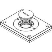 "Wiremold 830cktcal-1 Floor Bx Cvr. For Power Or Comm, Brushed Alum., 2"" & 1"" Plugs - Pkg Qty 10"