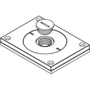 "Wiremold 830cktcal-1/2 Floor Bx Cvr. For Power Or Comm, Brushed Alum., 2"" & 1/2"" Plugs - Pkg Qty 10"