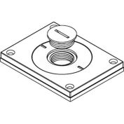 "Wiremold 830cktcal-3/4 Floor Bx Cvr. For Power Or Comm, Brushed Alum., 2"" & 3/4"" Plugs - Pkg Qty 10"