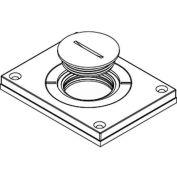 "Wiremold 830cktcal Floor Bx Cvr. For Power Or Comm, Brushed Alum., 2"" & 1-1/4"" Plugs - Pkg Qty 10"