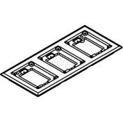 Wiremold 837c Floor Box 3-Gang Carpet Flange, Brass - Pkg Qty 5