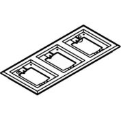 Wiremold 837pcc-Blk Floor Box 3-Gang Carpet Flange, Black - Pkg Qty 10