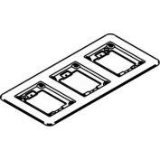 Wiremold 838tcal Floor Box 3-Gang Combination Carpet & Tile Flange, Aluminum - Pkg Qty 5