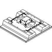 Wiremold 880M1FC Floor Box 1-Gang Shallow Floor Box, Fire Classified Flush