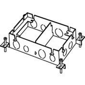 Wiremold 880M2 Floor Box 2-Gang Shallow Box, Fully Adjustable
