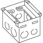 Wiremold 880W1 Floor Box 1-Gang Steel Box, For Wood Floors