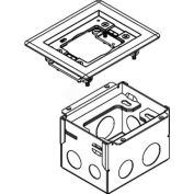 Wiremold 880W1818TCAL Floor Box 880W1 Series Box W/1 Gang 818TCAL, Aluminum Cover