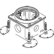 Wiremold 889B Floor Box Threaded Conduit Openings, Cast Iron, 2 Sides