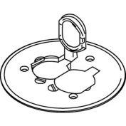 Wiremold 895p-Blk Floor Bx Dplx Cvr. Plate W/Flip Lids, For Carpet/Tile, Blk Polycarb - Pkg Qty 8