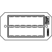 Wiremold 8trac Poke-Thru 1-Gang Ortronics Tracjack Plate - Pkg Qty 10