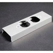"""Wiremold AL2446P-D Duplex Receptacle Cover Plate, 125V, 15A, 6""""L"""