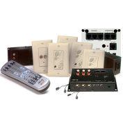 Legrand® AU1003-LA lyriQ™ Multi-Source, Four Zone Kit with keypads, Light Almond