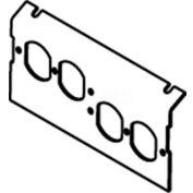 Wiremold C8004P-2DBP Floor Box AC8840 & AC8104 Plate (2) Duplex Devices KOs