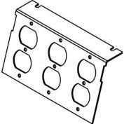 Wiremold C8005p-3dbp Floor Box Ac8105 & Ac8850 Plate (3) Duplex Devices Kos - Pkg Qty 10