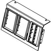 Wiremold C8005p-3rt Floor Box Ac8105 & Ac8850 Plate W/(3) Ortronics Lt Gray Bezels - Pkg Qty 10