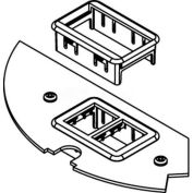 Wiremold Crfb-Rt-2 Floor Box Crfb Series Ortronics Device Plate #2 - Pkg Qty 5