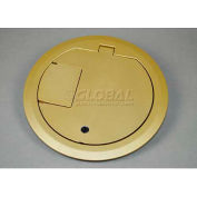 Wiremold CRFBCTCBS Floor Box CRFB Series Cover Assembly W/Carpet Insert, Brass