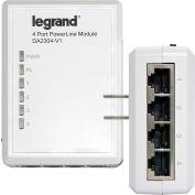 Legrand® DA2304-V1 Gigabit 4-Port Powerline Adapter