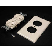Wiremold Drp20a-V Dplx Recpt. & Plate, 20a, Spec Grade, 5352 Series, Thermoplastic, Ivory - Pkg Qty 10
