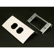 """Wiremold Ds4047d-Bz Single Channel Duplex Device, Metallic Bronze, 6""""L - Pkg Qty 10"""
