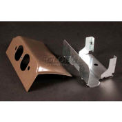 "Wiremold Dsdwnd-Bz Downward Duplex Device Plate, Metallic Bronze, 6""L - Pkg Qty 10"