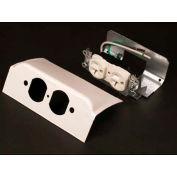 "Wiremold Dsdwndq-Bk Downward Duplex Device Plate, One Duplex Installed, Matte Black, 6""L - Pkg Qty 10"