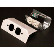 """Wiremold Dsdwndq-Bz Downward Dplx Device Plate, 1 Dplx Installed, Metallic Bronze, 6""""L - Pkg Qty 10"""