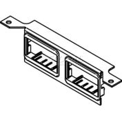 Wiremold Dtb-2-2ab Floor Box Communication Bracket W/(2) 2a Mini Adater Bezels - Pkg Qty 10