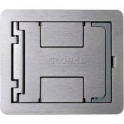 Wiremold Fpbtcbk Floor Box Floorport Flanged Cover W/Solid Lid, Black - Pkg Qty 8