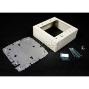 """Wiremold G2048-2 Switch & Receptacle Box, 2-Gang, 125V, 15A, 4-3/4""""L"""