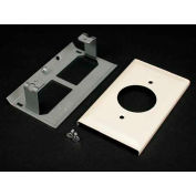"""Wiremold G3033je Single Receptacle Cover, Gray, 4-1/2""""L - Pkg Qty 10"""