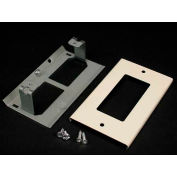 """Wiremold G3048r Rectangular Receptacle Cover, Gray, 4-1/2""""L - Pkg Qty 10"""