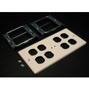 """Wiremold G4047-2bbbb Four-Gang Overlapping Cover For Duplex Openings, 9-1/2""""L - Pkg Qty 5"""