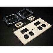 "Wiremold G4047-2bbtt Four-Gng Overlapping Cover, 2 Dplx, 2 Tracjack Mini Adptrs, 9-1/2""L - Pkg Qty 5"
