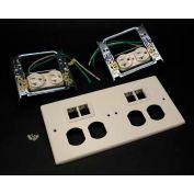 "Wiremold G4047-2wwtt 4-Gng Overlapping Cover, 2 Dplx, 2 Tracjack Mini Adptrs, 9-1/2""L - Pkg Qty 5"