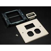 """Wiremold G4047bm Two-Gang Overlapping Cover Duplex, 2a Mini Adapter, 5-1/8""""L - Pkg Qty 10"""