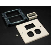 """Wiremold G4047bs For 15a And 20a Dplx Recpt.. Includes Mini Adptr Bezel, Gray, 5-1/8""""L - Pkg Qty 10"""