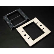 """Wiremold G4047c-2 Two-Gang Overlapping Device Plate, 5-1/8""""L - Pkg Qty 10"""