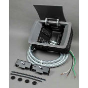"""Wiremold KF15RT2 Work Surface Portal, 125V, 20A, 7 7/8""""L, 2 Outlets"""