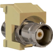Legrand® KSBNCI Keystone BNC-to-BNC Connector, Ivory