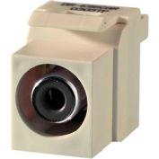 Legrand® KSRCABLA Keystone RCA to RCA Inserts (Black Insulator), Light Almond