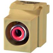 Legrand® KSRCARI Keystone RCA to RCA Inserts (Red Insulator), Ivory