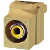 Legrand® KSRCAYI Keystone RCA to RCA Inserts (Yellow Insulator), White