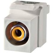 Legrand® KSRCAYW Keystone RCA to RCA Inserts (Yellow Insulator), White