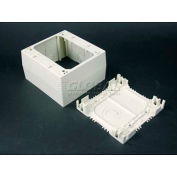"""Wiremold Nm2044-2wh 2-Gang Extra Deep Device Box, White, 4-3/4""""L - Pkg Qty 5"""